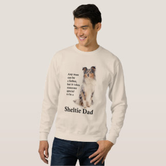 Blue Merle Sheltie Dad Sweatshirt