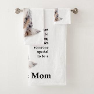 Blue Merle Sheltie Mom Bath Towel Set