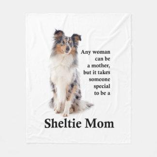 Blue Merle Sheltie Mom Fleece Blanket