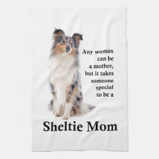 Blue Merle Sheltie Mom Kitchen Towel