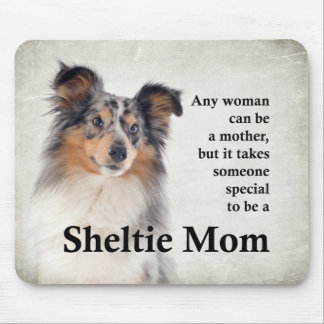 Blue Merle Sheltie Mom Mousepad