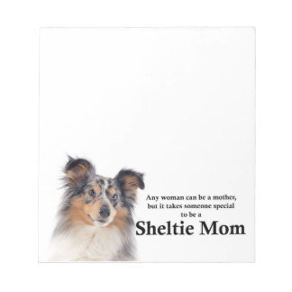 Blue Merle Sheltie Mom Note Pad