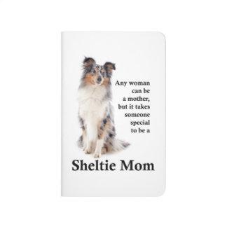 Blue Merle Sheltie Mom Pocket Journal
