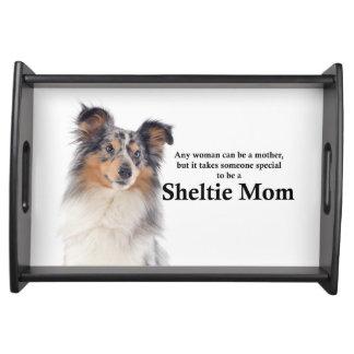 Blue Merle Sheltie Mom Serving Tray