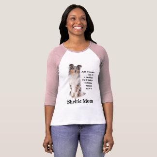 Blue Merle Sheltie Mom T-Shirt