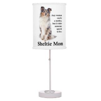 Blue Merle Sheltie Mom Table Lamp