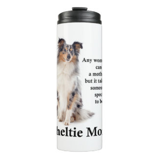 Blue Merle Sheltie Mom Thermal Tumbler