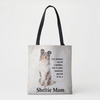 Blue Merle Sheltie Mom Tote