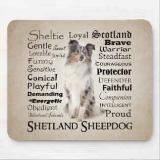 Blue Merle Sheltie Traits Mousepad