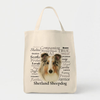 Blue Merle Sheltie Traits Tote