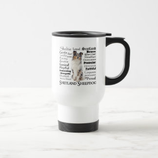Blue Merle Sheltie Traits Travel Mug