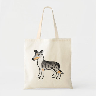 Blue Merle Smooth Collie Cartoon Dog