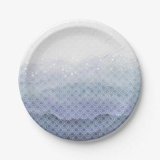 Blue Mermaid Birthday Party Paper Plates