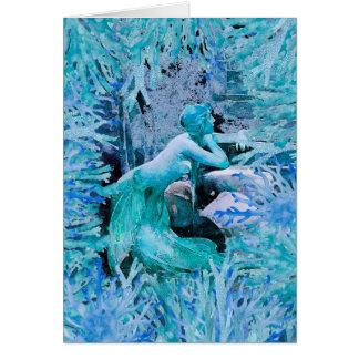 Blue Mermaid Fantasy Gift Card by Inseyne