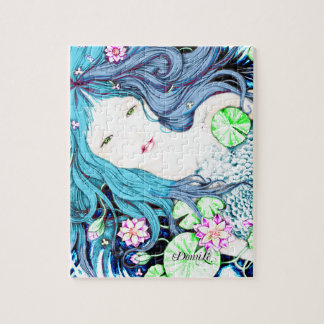 Blue Mermaid Jigsaw Puzzle