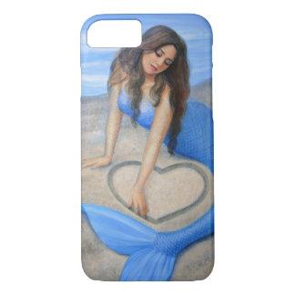 Blue Mermaid 's Heart Fantasy Art iPhone 7 case