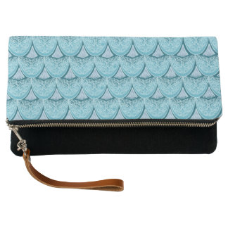 Blue Mermaid scales ,boho,hippie,bohemian Clutch