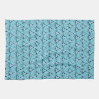 Blue Mermaid scales ,boho,hippie,bohemian Kitchen Towel