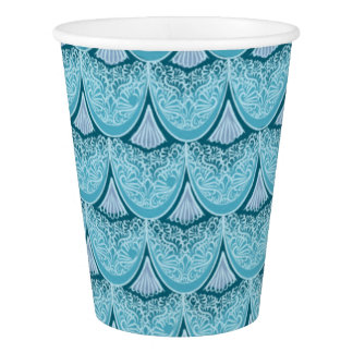 Blue Mermaid scales ,boho,hippie,bohemian Paper Cup
