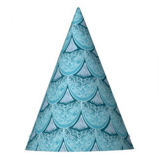 Blue Mermaid scales ,boho,hippie,bohemian Party Hat