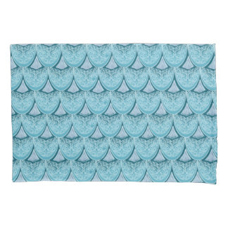 Blue Mermaid scales ,boho,hippie,bohemian Pillowcase