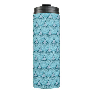 Blue Mermaid scales ,boho,hippie,bohemian Thermal Tumbler