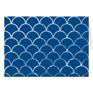 blue mermaid scales horizontal card