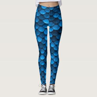 Blue Mermaid Scales Leggings