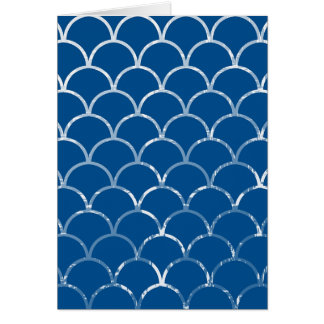 blue mermaid scales vertical card