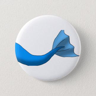 Blue Mermaid Tail 2 Inch Round Button