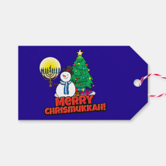 "Blue ""Merry Chrismukkah"" Gift Tags Pack Of Gift Tags"