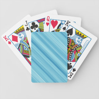 Blue metal background bicycle playing cards