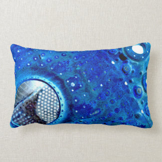 BLUE METAL LUMBAR PILLOW