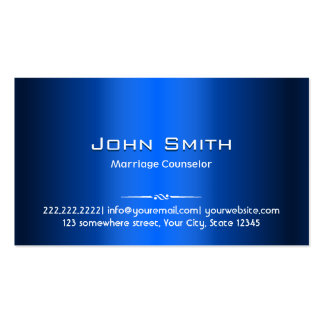 Blue Metal Marriage Counselling Business Card