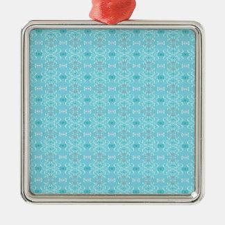 blue metal ornament