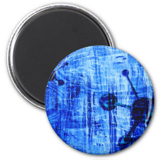 Blue Metal Satellites Abstract Refrigerator Magnet