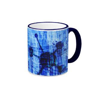 Blue Metal Satellites Abstract Mugs
