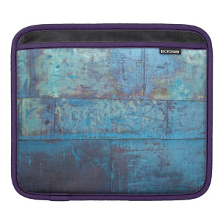 Blue Metal Wall Texture | iPad Sleeve