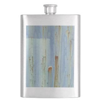 Blue metall Wall Hip Flask