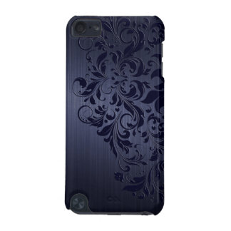 Blue Metallic Background Blue Floral Lace iPod Touch 5G Case