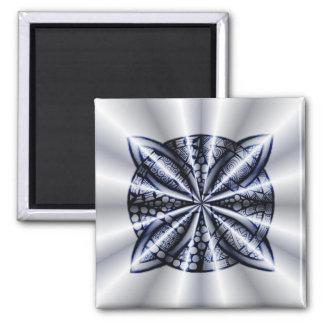 Blue Metallic Celtic Knot Original Art Magnet