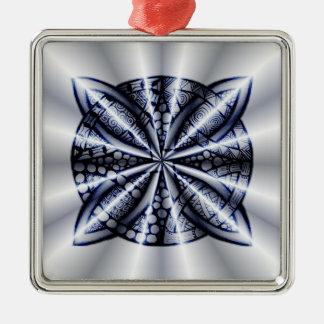 Blue Metallic Celtic Knot Original Art Christmas Tree Ornaments
