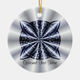 Blue Metallic Celtic Knot Original Art Ornament