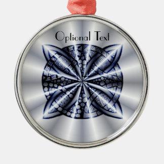 Blue Metallic Celtic Knot Original Art Christmas Tree Ornament