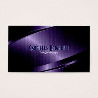 Blue Metallic Design-Stainless Steel Look Business Card
