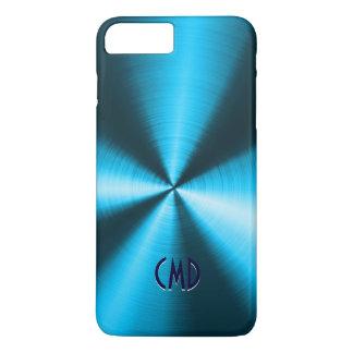 Blue Metallic Design Stainless Steel Look iPhone 7 Plus Case