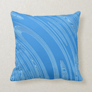 blue metallic texture throw pillow
