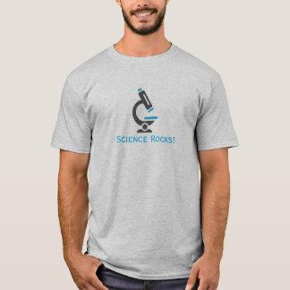 Blue Microscope Science Rocks Design Shirt