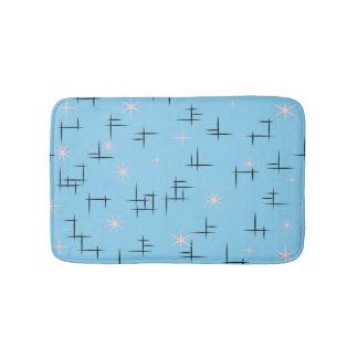 Blue Mid Century Modern Bath Mat