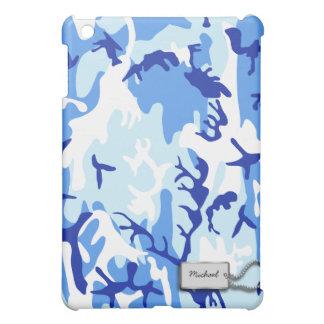 Blue Military Camouflage iPad Mini Cover